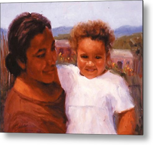 Mother Metal Print featuring the painting Esperanza by Bunny Oliver