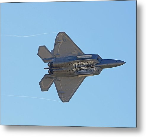 Planes Metal Print featuring the photograph F22 Raptor Munitions Bays Open by Dave Clark