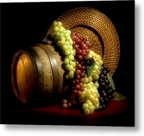 Aged Metal Print featuring the photograph Grapes Of Wine by Tom Mc Nemar