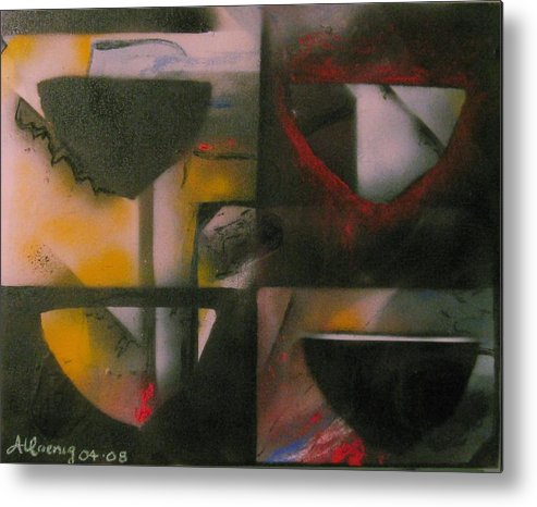 Metal Print featuring the painting Incomplete Drops Of Salvation by Andrea Noel Kroenig