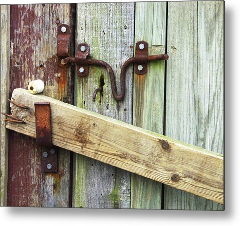 Metal Print featuring the photograph Locked Up Tight by Tom Romeo