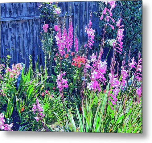 Los Osos Flower Garden Metal Print featuring the mixed media Los Osos Flower Garden by Dominic Piperata
