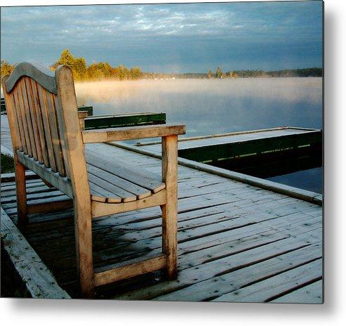 Sunrises Metal Print featuring the photograph Muskoka Lake At Sunrise by Linda McRae