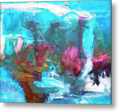 Abstract Metal Print featuring the painting Nanda Devi by Dominic Piperata