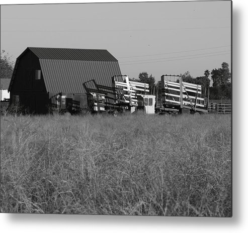 Agriculture Metal Print featuring the photograph New Holland Bale Wagons by Troy Montemayor