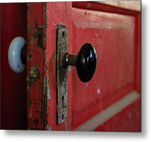 Door Metal Print featuring the photograph Old Door by Jeannee Gannuch