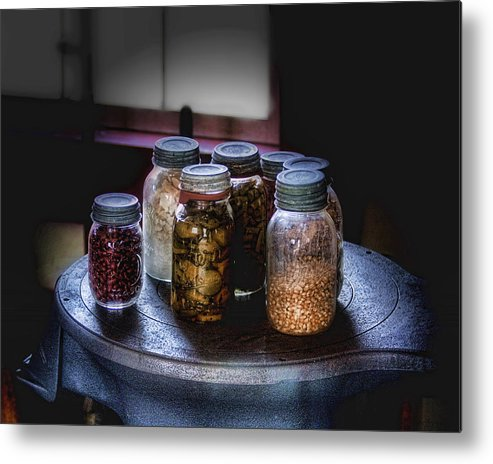 Canning Metal Print featuring the photograph Old-time Canned Goods by Tom Mc Nemar