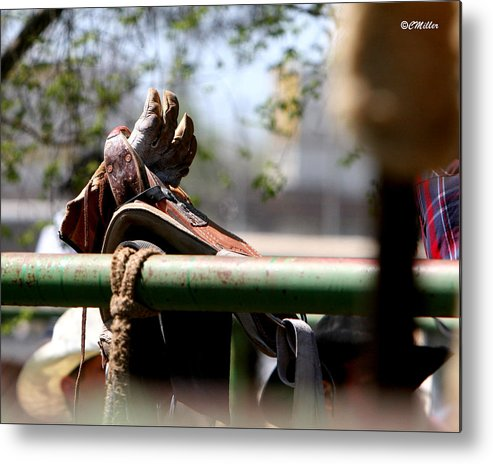 Rodeo Metal Print featuring the photograph Patiently Waiting by Carol Miller