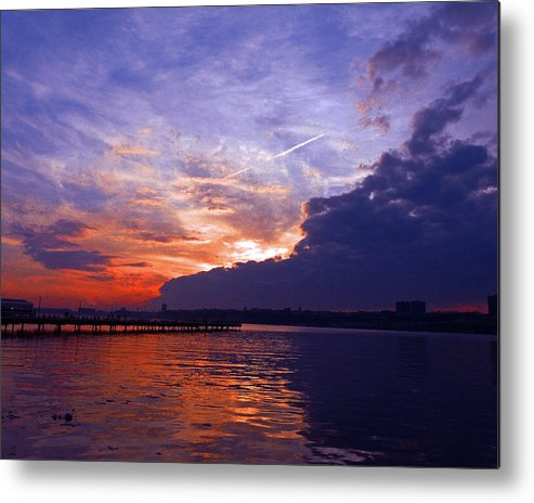 Landscape Metal Print featuring the photograph Purple Passion Skies by Kendall Eutemey
