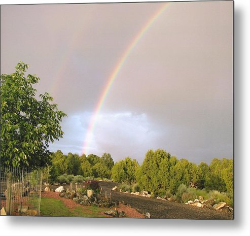 Rainbow Metal Print featuring the photograph Rainbows Blessing by Yolanda Lange