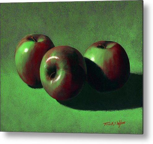 Still Life Metal Print featuring the painting Ripe Apples by Frank Wilson