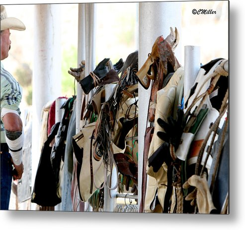 Rodeo Metal Print featuring the photograph Rodeo Gear by Carol Miller
