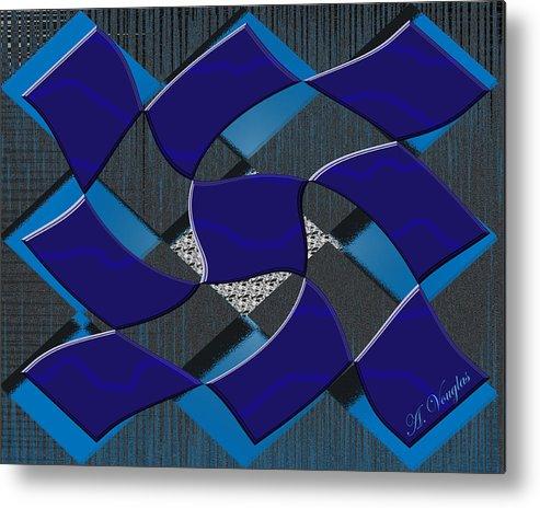 Squares Metal Print featuring the digital art Sea Ripples by Amanda Vouglas