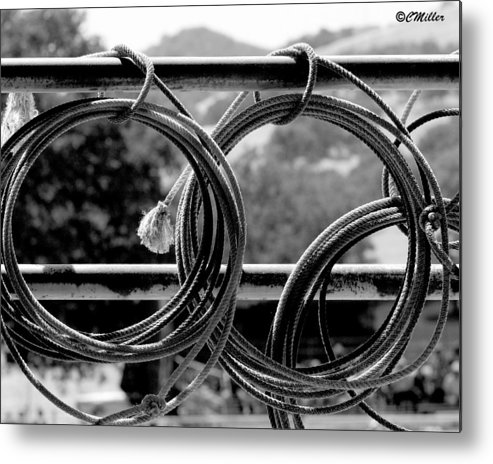 Cowboy Metal Print featuring the photograph Tools Of The Trade.. by Carol Miller
