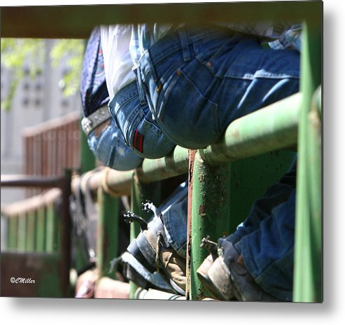 Rodeo Metal Print featuring the photograph Love Those Wrangler Butts by Carol Miller