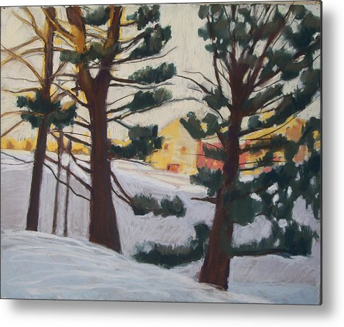 Maine Metal Print featuring the pastel A Certain Slant Of Light by Grace Keown