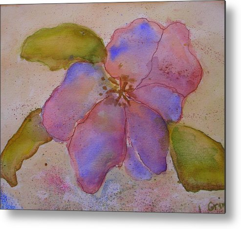 Floral Metal Print featuring the painting Glory Flower by Lessandra Grimley