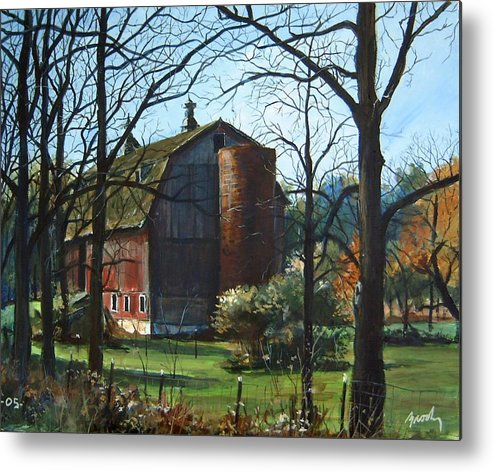 Landscape Metal Print featuring the painting Remember When by William Brody