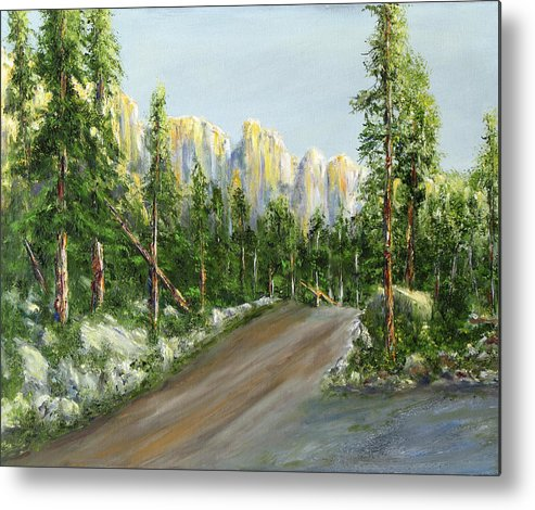 Landscape Metal Print featuring the painting Sunrise On Spruce Mesa by Thomas Restifo