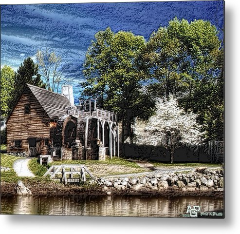 Landscape Metal Print featuring the photograph Saugus Iron Works -ii by Fred LaPoint
