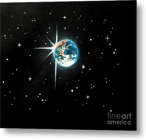 Inspirational Metal Print featuring the painting The Star by Shasta Eone