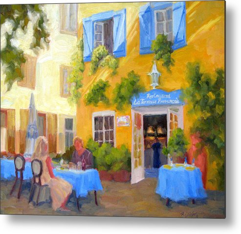 France Metal Print featuring the painting A Loaf Of Bread A Jug Of Wine by Bunny Oliver