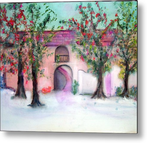 Hacienda Metal Print featuring the painting Hacienda by Michela Akers