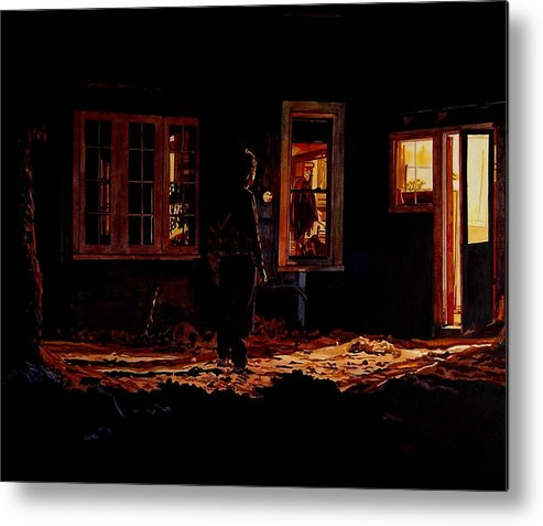 Night Metal Print featuring the painting Into The Night by Valerie Patterson