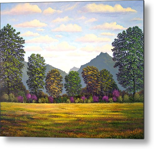 Mountains Metal Print featuring the painting Sutter Buttes In Springtime by Frank Wilson