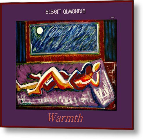 Relationships Metal Print featuring the painting Warmth by Albert Almondia