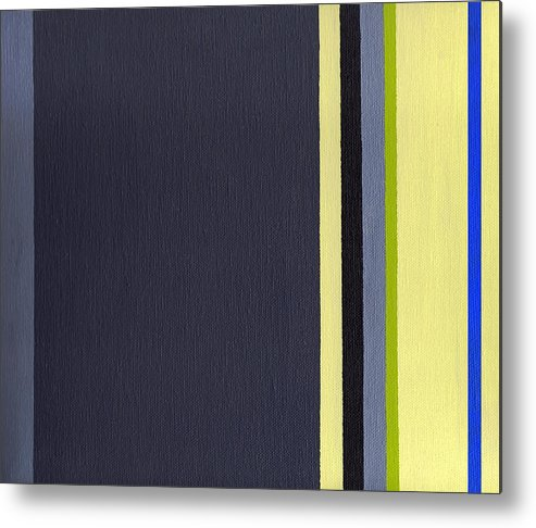 Geometric Metal Print featuring the painting Parallels 2 by Slade Roberts