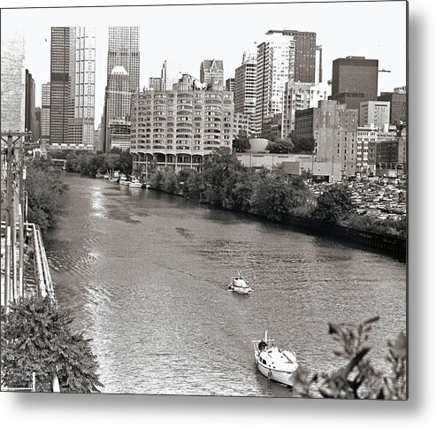 Landscape Metal Print featuring the photograph Chicago River by Eric Belford