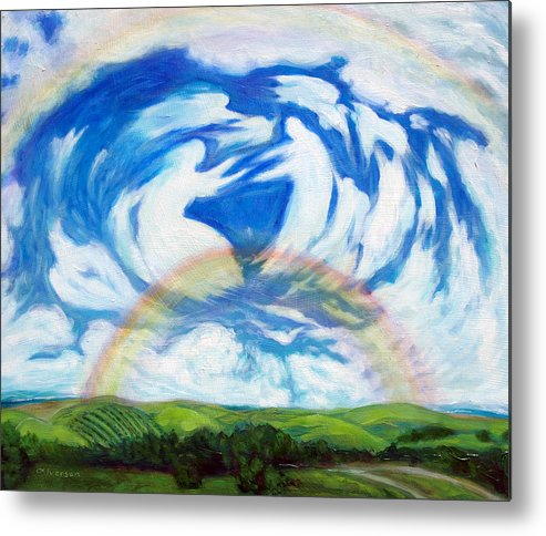 Heaven Metal Print featuring the painting Coming Home by Jill Iversen