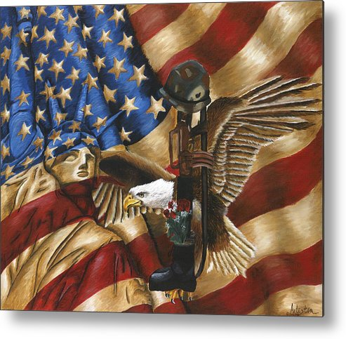Tribute Metal Print featuring the painting Freedom by Renee Lindsey