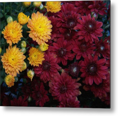 Digital Painting Metal Print featuring the painting Touch Of Fall by Evelyn Patrick