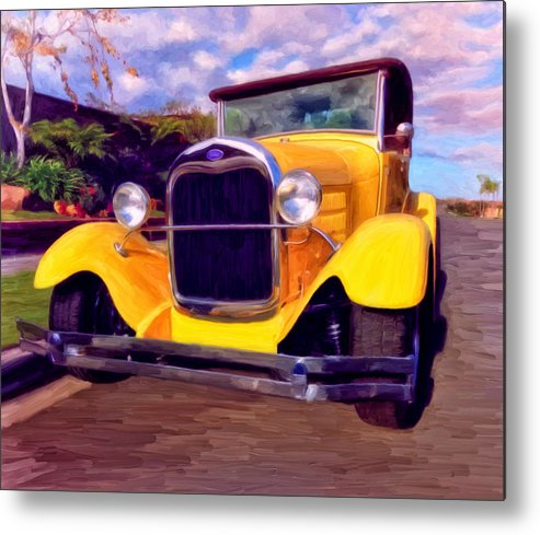 Resto Mod Metal Print featuring the painting '28 Ford Pick Up by Michael Pickett
