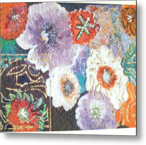 Metal Print featuring the mixed media Naturally Rich by Anne-Elizabeth Whiteway