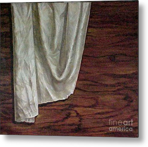 Painting Metal Print featuring the painting The Cloth by Jeannette Ulrich