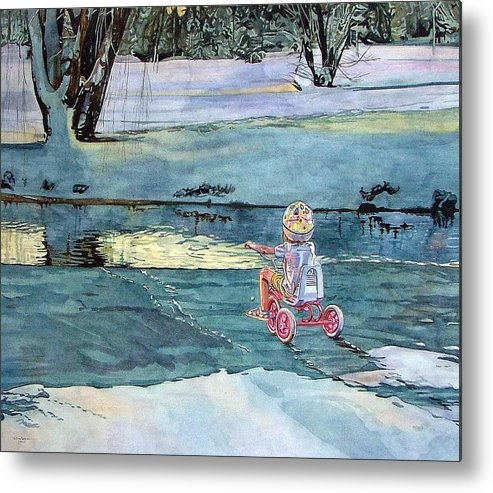 Children Metal Print featuring the painting Twilight by Valerie Patterson