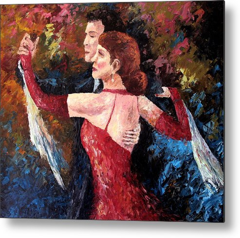 Tango Metal Print featuring the painting Two To Tango by David G Paul
