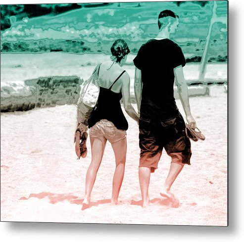 Walk Metal Print featuring the photograph Walk With Me by Barbara White