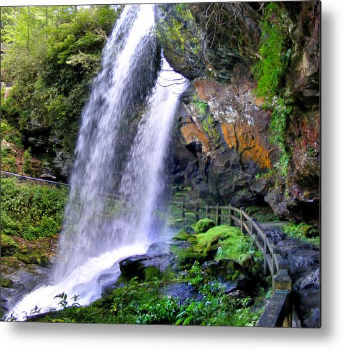 Waterfalls Metal Print featuring the photograph Dry Falls 2 In Western North Carolina by Duane McCullough