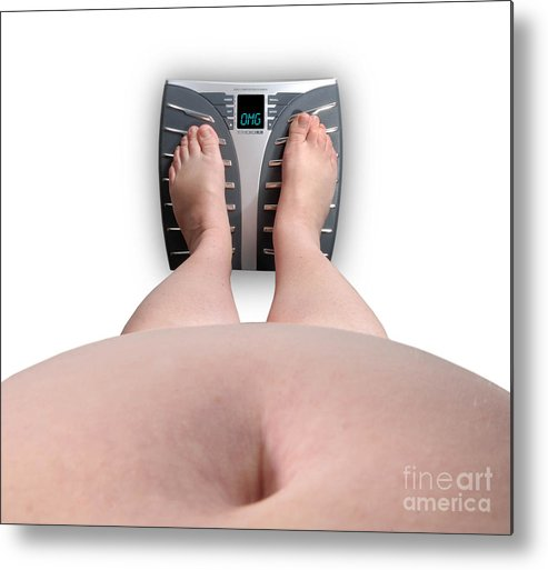 Abdomen Metal Print featuring the photograph The Scale Says Series Omg by Amy Cicconi