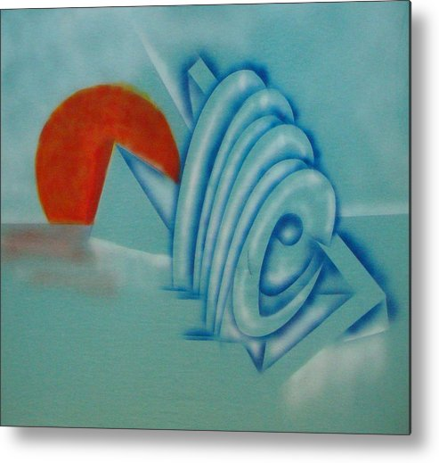 Abstract Metal Print featuring the painting Sunset by Eugene Foltuz
