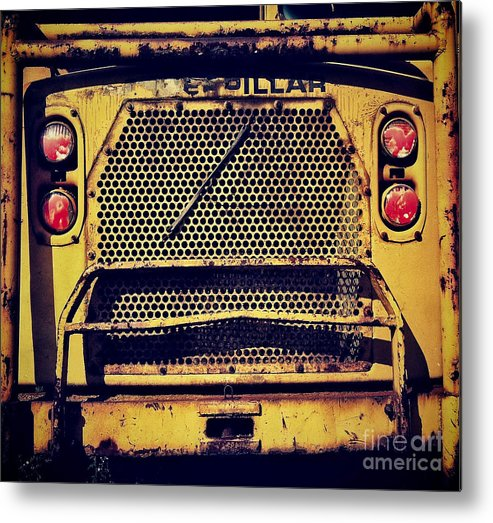 Caterpillar Metal Print featuring the photograph Dump Truck Grille by Amy Cicconi