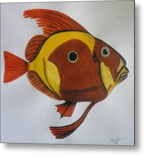 John Dory Metal Print featuring the painting John Dory by Joan Stratton