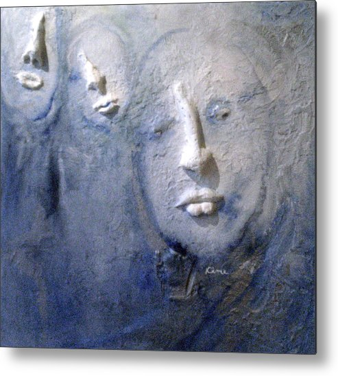 Portraits Metal Print featuring the painting Metamorphosis by Kime Einhorn