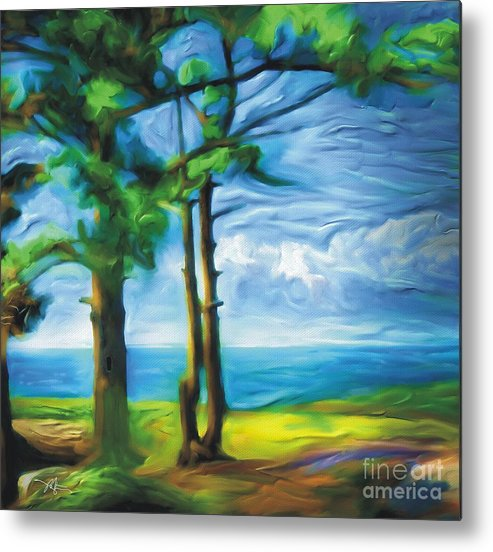 Landscape Metal Print featuring the painting Northern Ontario by Bob Salo