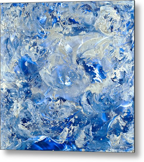 Abstract Painting Metal Print featuring the painting Wipe Out II by Danita Cole