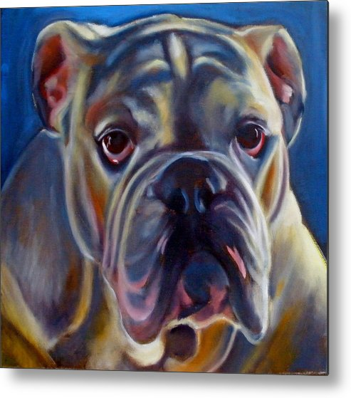 Bulldog Metal Print featuring the painting Bulldog Expression 2 by Kaytee Esser